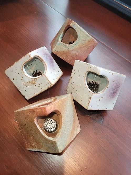 """Four Studio Art Pottery 2"""" Flower Frogs - Light"""