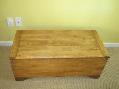 "Wood toy box 35"" wide by 14"" tall"