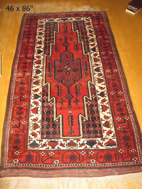 "Persian Baluch Carpet runner handwoven all wool ca.1990-2000, 7'10"" x 3'10"", VG"