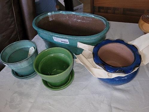 "New Gardening Pots - 14"" & 5"""