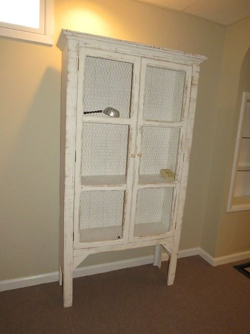 """Shabby Chic screen front cabinet 6' tall x 37"""" wide"""