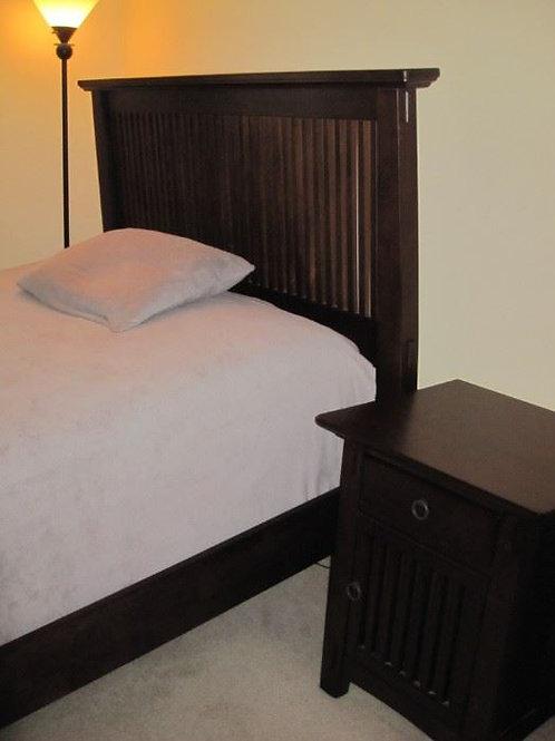 Double headboard and mattress set