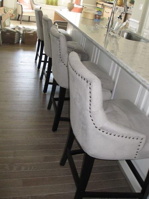 4 fabric bar chairs