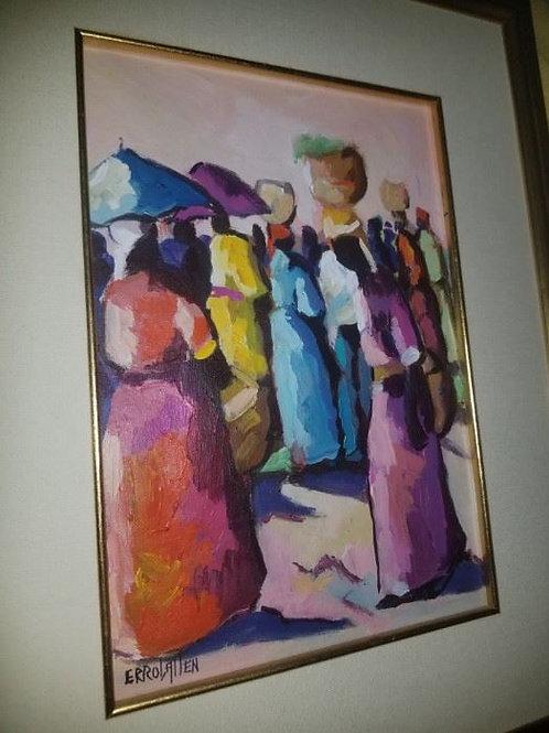 "Errol Allen original Oil painting, 14 x 18"" frame"