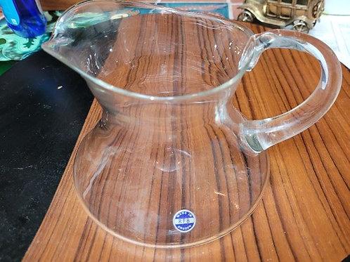"RFB Sweden Glass Pitcher - 8 X 6"""