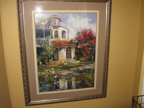 "31 x 40"" cottage print"