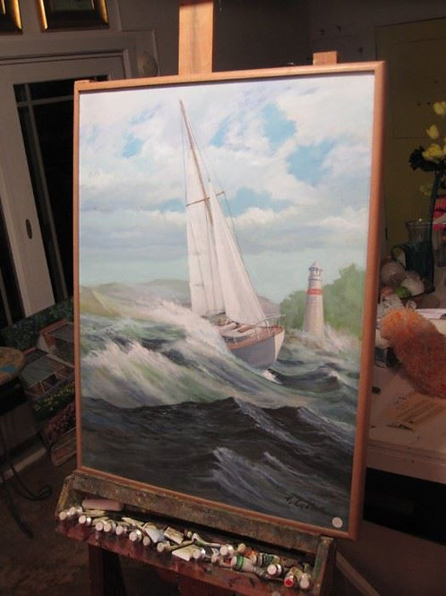 """Sail in Storm, by J. Coates, 25/32"""""""