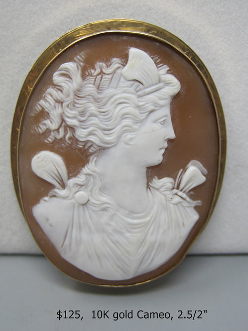 10K GOLD CAMEO 2.5/2""