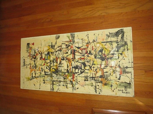 Original 1965 Dale Eldred Oil Painting on Board