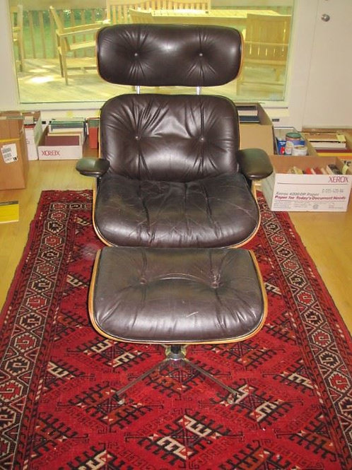 Selig Eames chair & ottoman, good condition one bolt missing