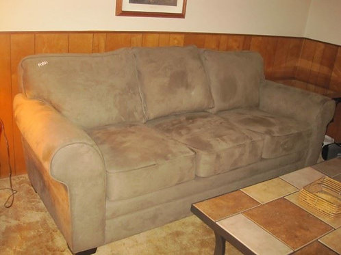 3 seat neutral Beige sofa, VG condition like new
