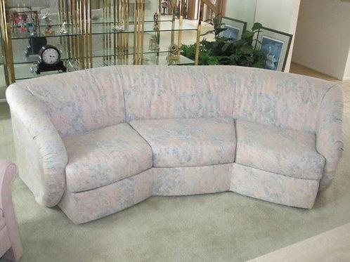 """80s Carson's octagon sofa vgc 8' x 33"""" deep"""