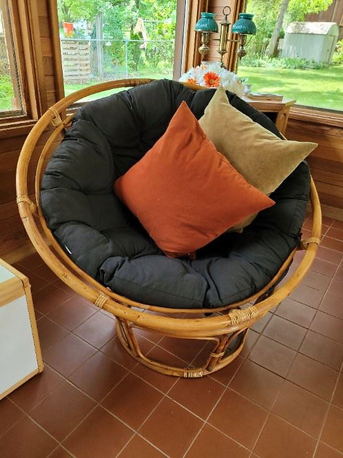 Large Rattan Comfy Chair