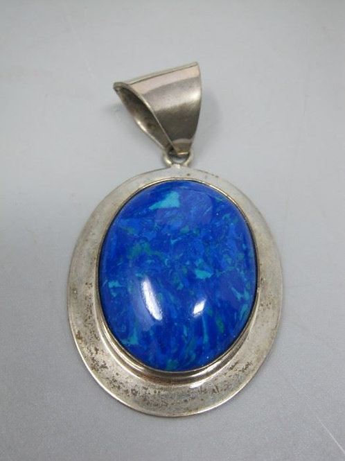 "Large Vintage Mexico 3"" Sterling pendant"