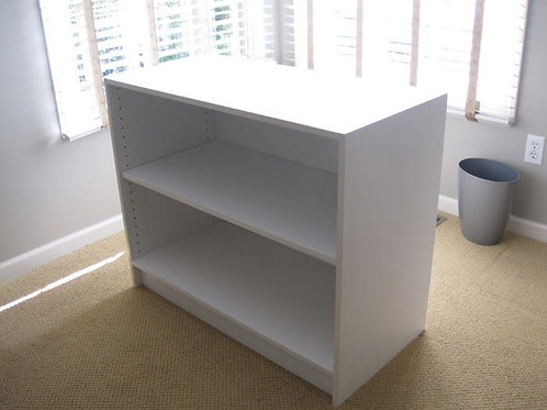 "35 x 30 x 18"" white shelf, Vg condition"