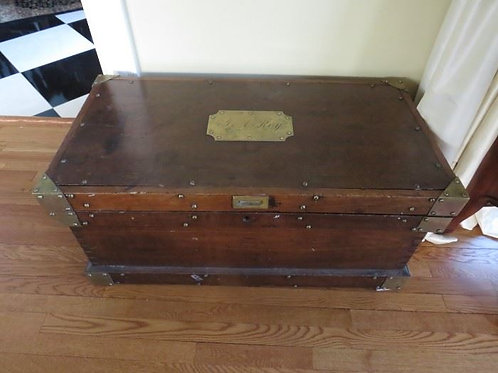 "Antique Chest w/ Brass Name Plate - ""Roy"""
