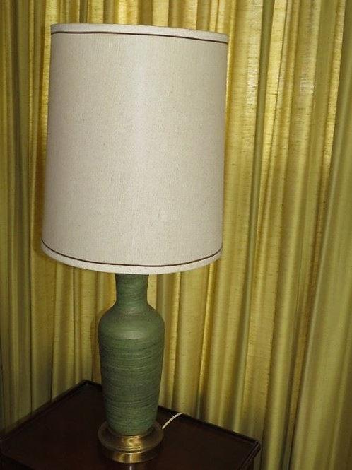MCM Gren Pottery Lamp