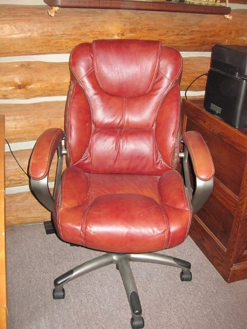 Leather office chair vg condition