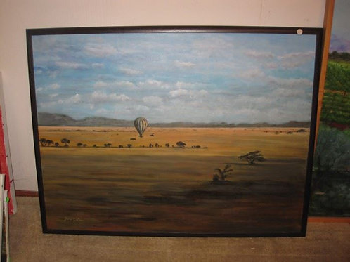 Hot air balloon by J. Coates, 40/30""