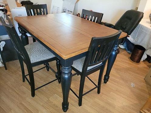 Cherry & Black Enamel High Top Table