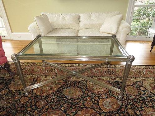 Cast Metal Frame Table