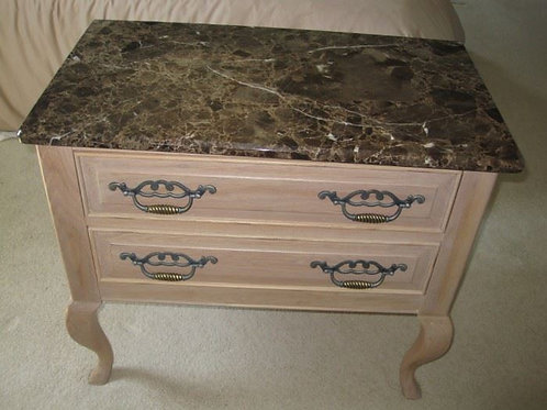 "$75 each Thomasville marble top Side table 26' x 30""T, there are a pair of these"