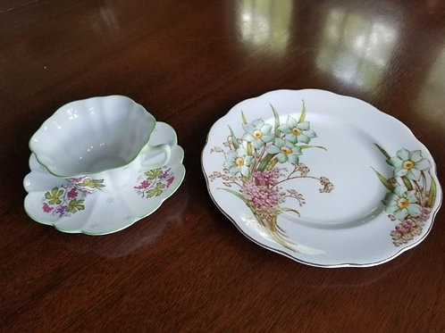 Shelley China tea cup and luncheon plate, no chips or cracks