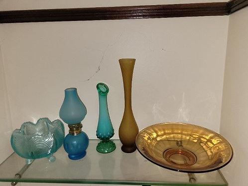 Vintage Glass - 5 Pieces