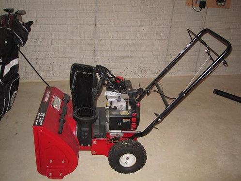 "Craftsman 22"" electric start snow blower excellent condition"