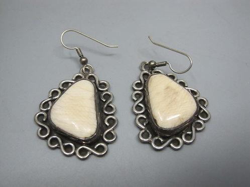 """African Sterling Silver Pierced earrings, 1.5"""" pendant"""