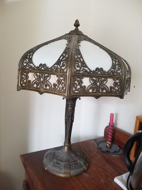Antique Tiffany style lamp, vg condition 27""