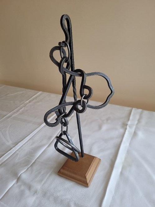 """Lock Sculpture - 15"""""""
