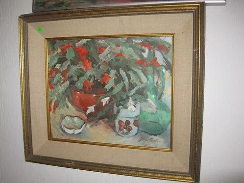 "Christmas Cactus by J. Coates 20/20"""