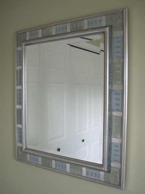 """Pale shade of blue gray green, 31/27"""" mirror"""