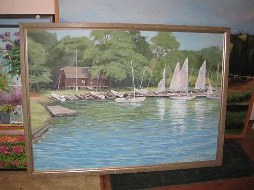 """Sail Boats by J. Coates, 45/35"""""""