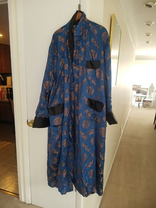 New silk smoking jacket, sz large