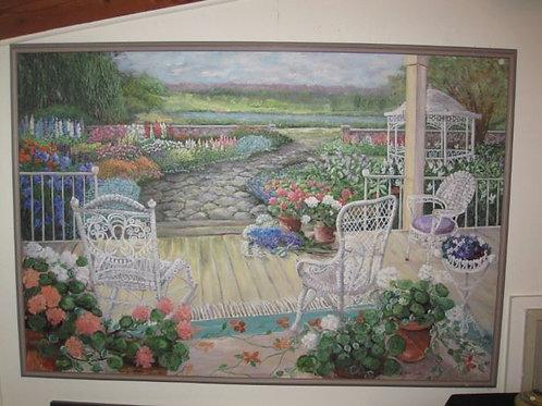 "Garden Gazebo, by J Coates, 70/50"""
