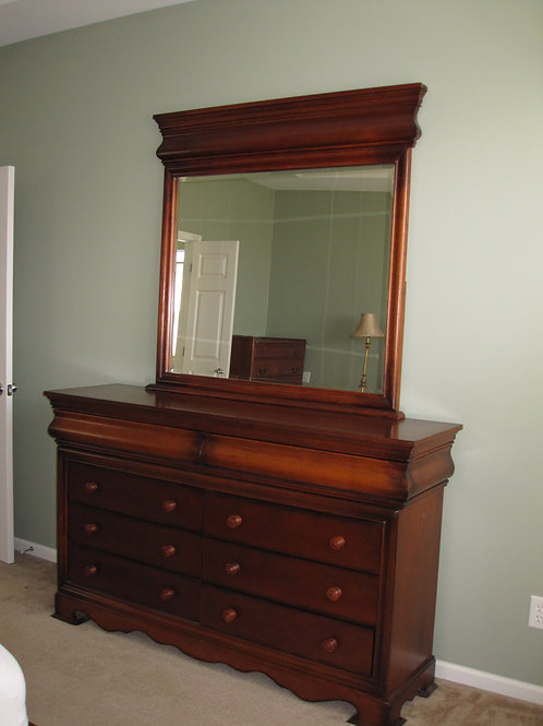 Large double dresser solid wood