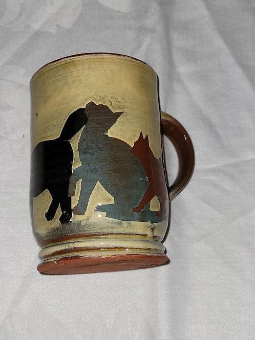 J. S. Cat coffee mug