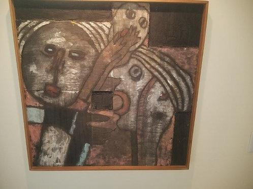 Fernando Ramos Prida, 31 x 31, oil and acrylic on wood