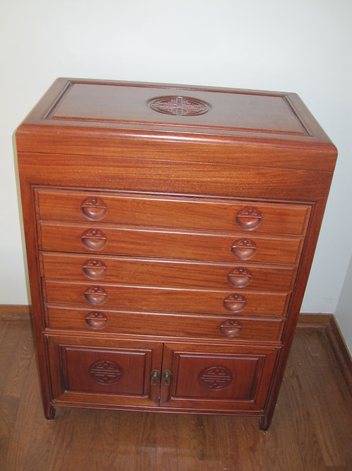 Purchased in Hong kong solid wood Silver Chest (does not include silverware)