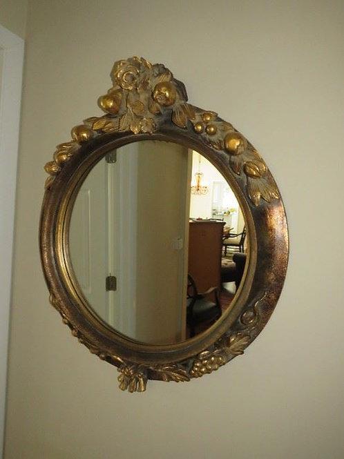 "Resin fruit mirror 29"" VG Condition"