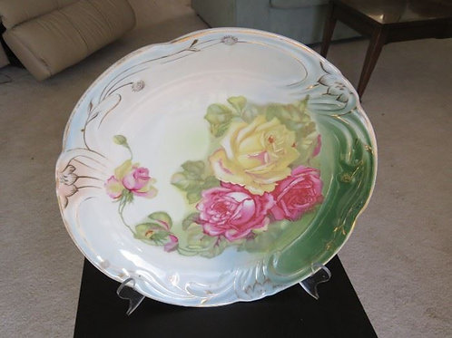 """Victorian 14"""" hand painted plate"""