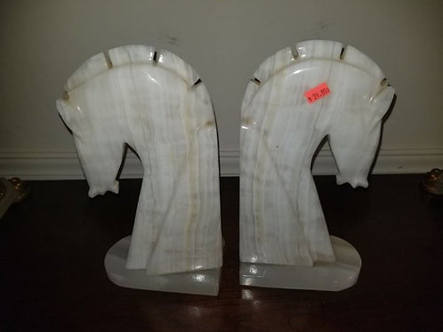 Horse Bookends Onyx 14""
