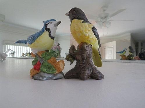 "2 Porcelain birds 4"""