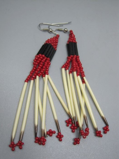 """Porcupine Quill Earrings 3"""""""