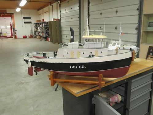 1st Building, Tug co. wood model boat 3'