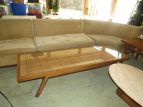 """Robsjohn-Gibbings for Widdicomb long coffee table , 6' x 15""""T, has some wear"""
