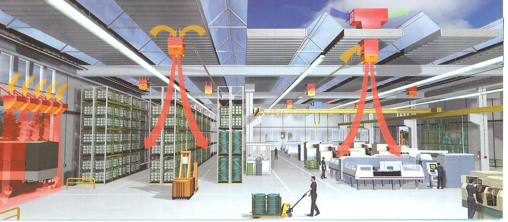 Вентиляция склада в Челябинске