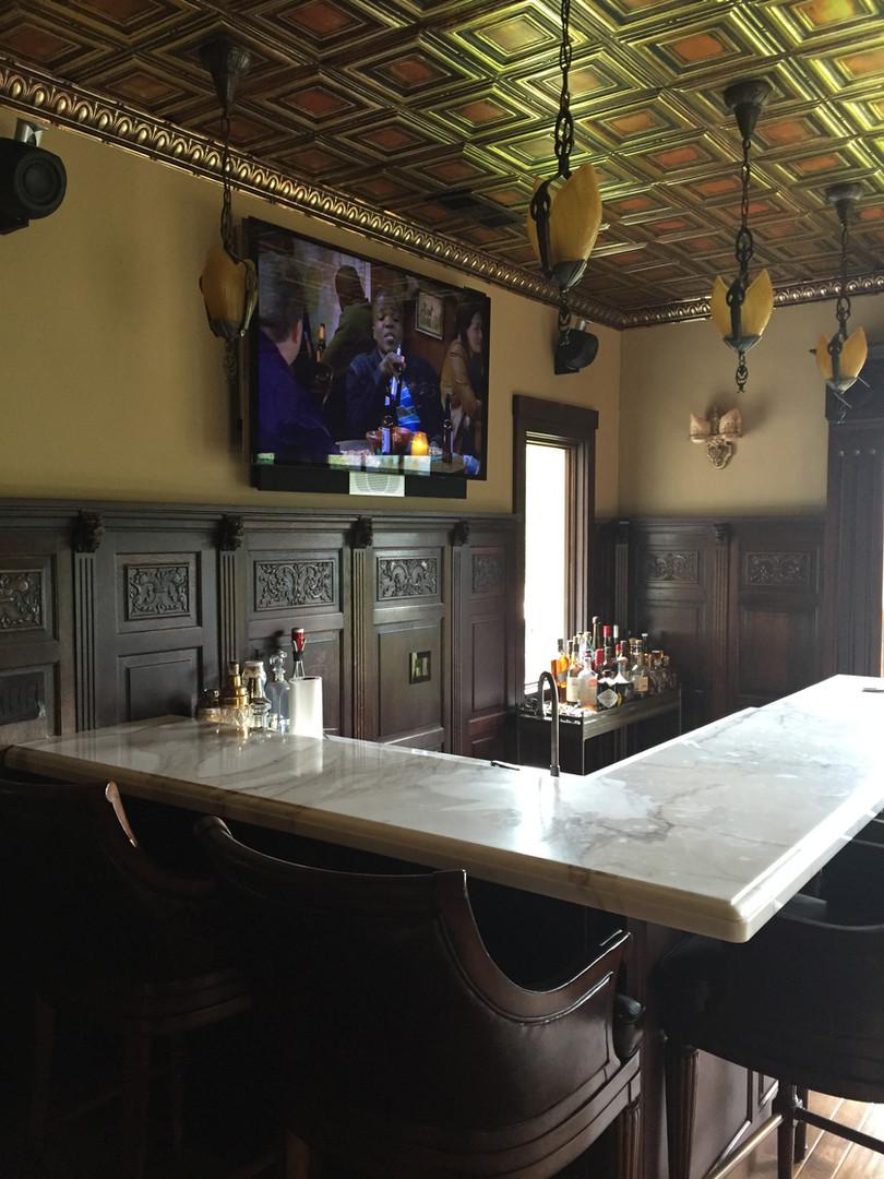 Avant 55 TV Mounted Over Bar